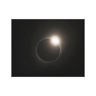 2017 Solar Eclipse - Diamond Ring Canvas Print