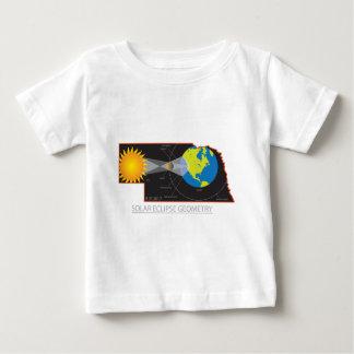 2017 Solar Eclipse Geometry Across Nebraska Cities Baby T-Shirt