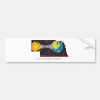 2017 Solar Eclipse Geometry Across Nebraska Cities Bumper Sticker
