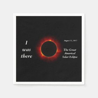 """2017 Solar Eclipse """"I was there"""" edition Paper Napkins"""