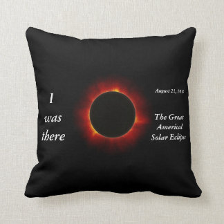 """2017 Solar Eclipse """"I was there"""" edition Throw Pillow"""