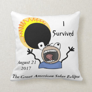 2017 Solar Eclipse Survival Edition Cushion