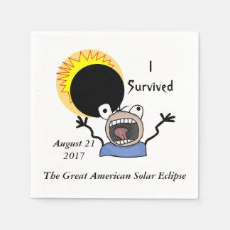 2017 Solar Eclipse Survival Edition Disposable Serviette