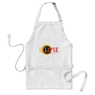 2017 Solar Eclipse Text Abstract Illustration Standard Apron