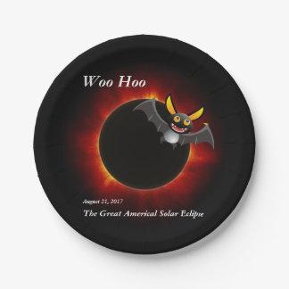 2017 Solar Eclipse, Vampire Edition Paper Plate