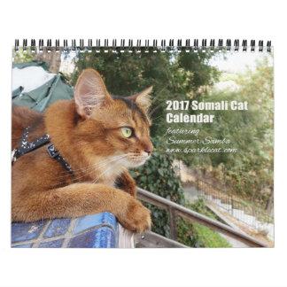 2017 Somali Cat featuring Summer Samba Wall Calendar