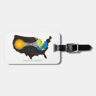 2017 Total Solar Eclipse Across USA Geometry Luggage Tag