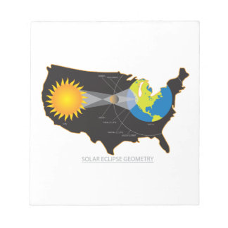 2017 Total Solar Eclipse Across USA Geometry Notepad
