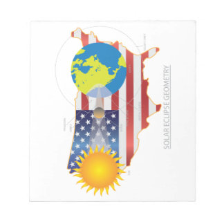 2017 Total Solar Eclipse Across USA Map Geometry Notepad