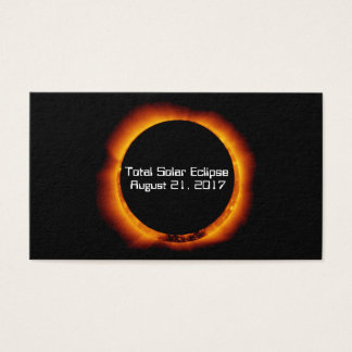 2017 Total Solar Eclipse Business Card