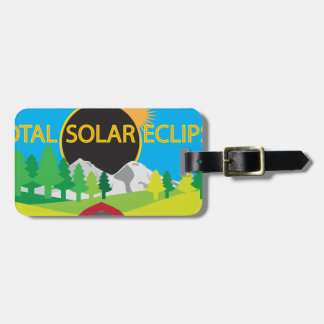 2017 Total Solar Eclipse Camping Trip Map Luggage Tag