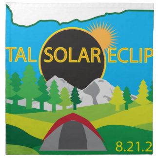 2017 Total Solar Eclipse Camping Trip Map Napkin