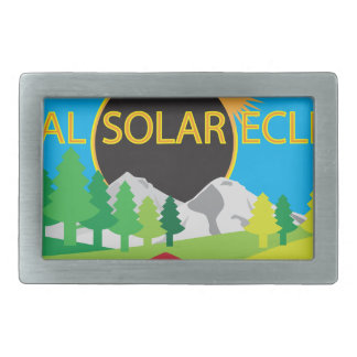 2017 Total Solar Eclipse Camping Trip Map Rectangular Belt Buckle