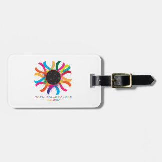 2017 Total Solar Eclipse Corona Text Color Luggage Tag