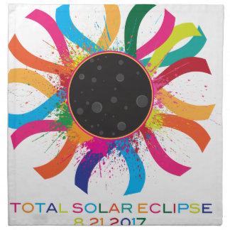 2017 Total Solar Eclipse Corona Text Color Napkin
