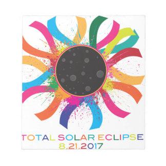 2017 Total Solar Eclipse Corona Text Color Notepad