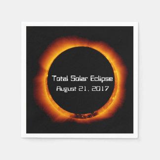 2017 Total Solar Eclipse Disposable Serviette