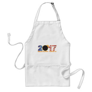 2017 Total Solar Eclipse Over USA Numeral Standard Apron