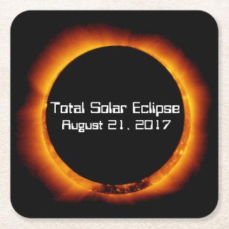 2017 Total Solar Eclipse Square Paper Coaster