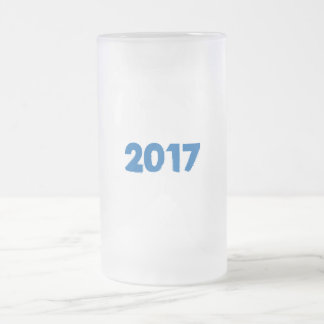 2017 U can change TEXT STYLE and TEXT COLOR Frosted Glass Beer Mug
