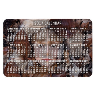 2017 Year Monthly Calendar White   Add Photo Magnet