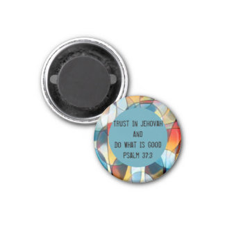 2017 Yeartext (Psalm 37:3) Magnet - multicolored