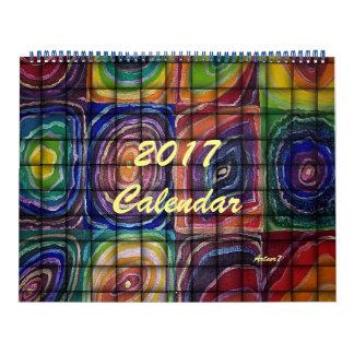 2017Calendar Art Weaved Square Spirals Large Wall Calendars