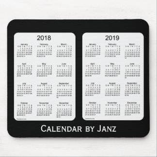 2018-2019 Black Calendar by Janz Mousepad