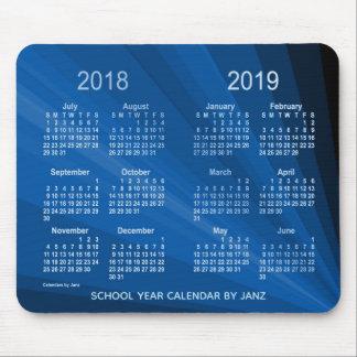 2018-2019 Blue Fan School Year Calendar by Janz Mouse Pad