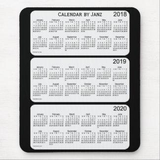 2018-2020 Black Calendar by Janz Mouse Pad