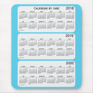 2018-2020 Sky Blue Calendar by Janz Mouse Pad