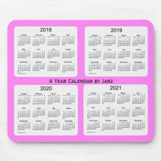 2018-2021 Violet 4 Year Calendar by Janz Mouse Pad
