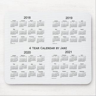 2018-2021 White Smoke 4 Year Calendar by Janz Mouse Pad