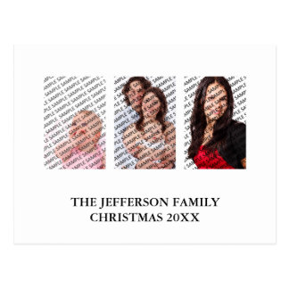 2018 3 Family Photos Custom Calendar Postcard