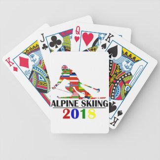 2018 ALPINE SKIING BICYCLE PLAYING CARDS