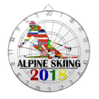 2018 ALPINE SKIING DARTBOARD