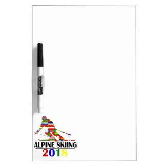 2018 ALPINE SKIING DRY ERASE BOARD