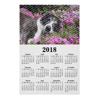 2018 Annual Family Photo Custom Calendar Poster