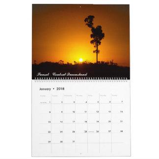 2018 Australian sunset calendar