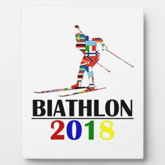 2018 BIATHLON PLAQUE