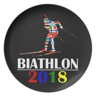 2018 BIATHLON PLATE