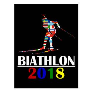 2018 BIATHLON POSTCARD