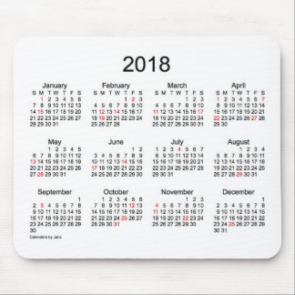 2018 Black and White Holiday Calendar by Janz Mouse Pad