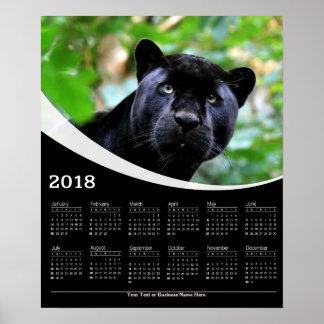 2018 Black Panther Gaze Wildlife Poster Calendar