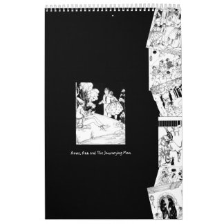 2018 Black White Typography House Rhymes Vintage Wall Calendars