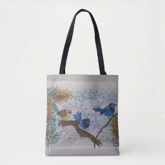 2018 blue wren tote bag