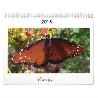 2018 Butterfly Calendar