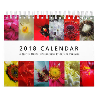2018 Calendar: A Year in Bloom Wall Calendars