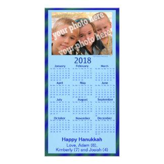 2018 Calendar Card Happy Hanukkah Custom Photo