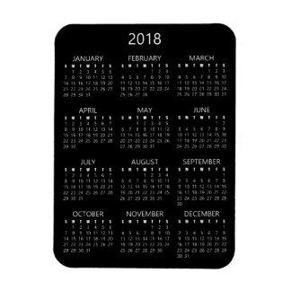 2018 Calendar Magnet - Black